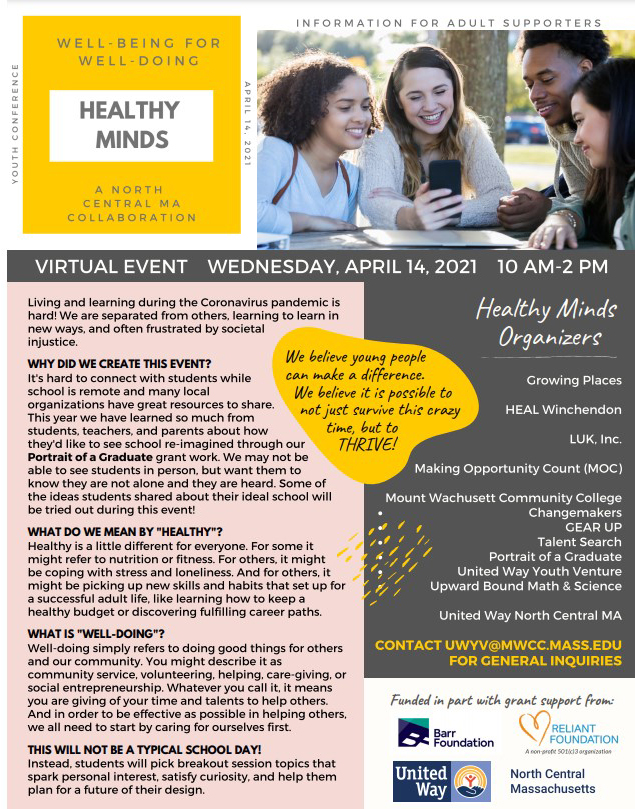 Healthy Minds Flyer Graphic